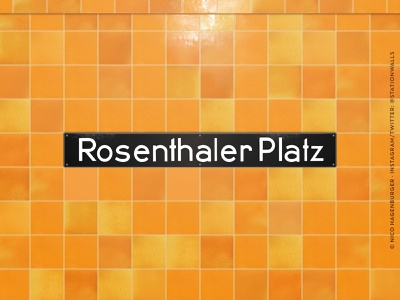 Rosenthaler Platz bvg public transport architechture lettering berlin type design typeface typography
