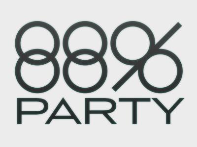 88 percent party logo