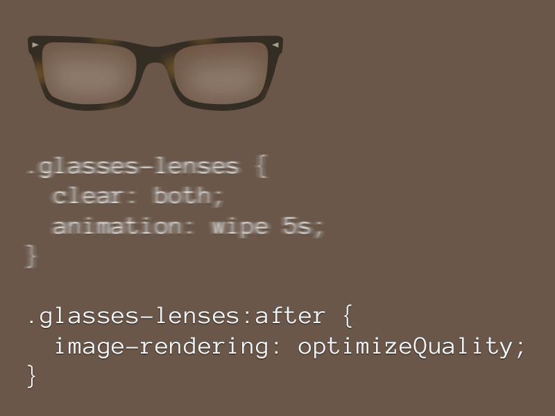 #SteamyGlasses lenes glasses pun play off fun css rebound flat
