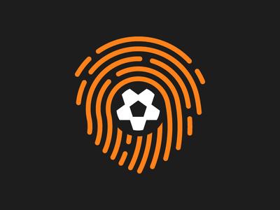 SoccerID branding brand ball fingerprint identity id soccer football logo