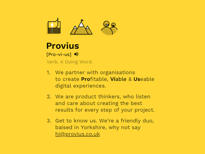 Introducing Provius introducing welcome new job new job agency life agency