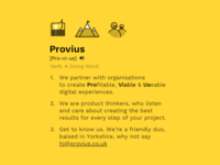 Introducing Provius