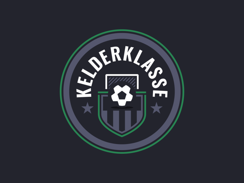 Kelderklasse Logo beer mat beer light dark shield crest logo soccer football