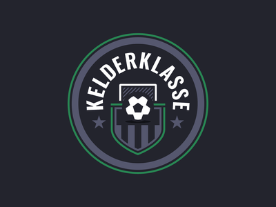 Kelderklasse Logo beer mat beer light dark shield crest logo soccer football
