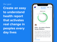 LiveSmart's Heath Dashboard - Our Goal app mobile doctor health score dashboard health ux ui