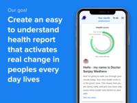 LiveSmart's Heath Dashboard - Our Goal app mobile doctor health score dashboard health ux ui