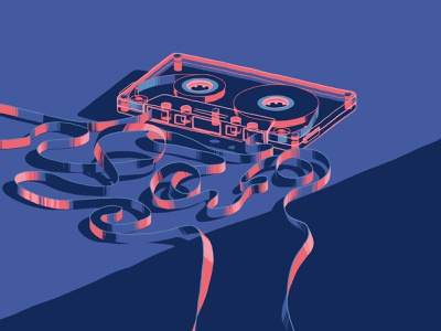 Cassette Power! illustrator photoshop procreate art direction art design illustration