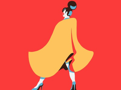 A illustration characterdesign character fashion illustration model 36days 36daysoftype fashion procreate 2d