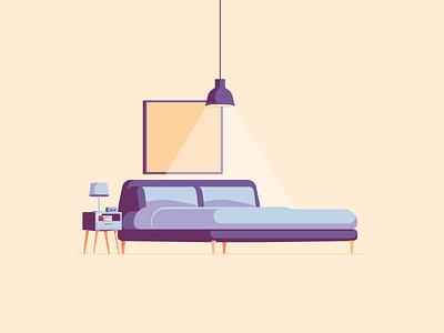 Bedroom - Illustration system furniture bedroom design system 2d illustration illustration system