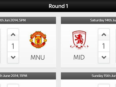 Super 6 App Reskin app ui reskin promo football predictions game sky fun ipad sports