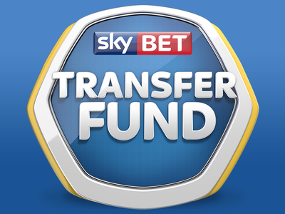 Transfer Fund Logo logo design logo branding identity sky football shape blue yellow transfer 3d sports