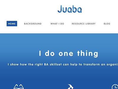 Juaba simple ui blue colour scheme reskin wordpress