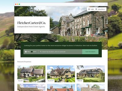 FletcherCarter&Co typography fonts branding brand creative clean property yorkshire estate agents website design web visualdesign ux ui