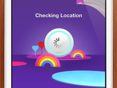 iPhone Sky Bingo location screen bingo iphone purple location loading app star rainbow