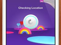 iPhone Sky Bingo location screen