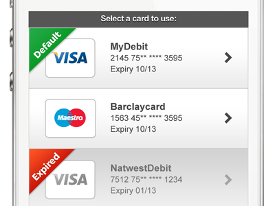 Deposit - Switch Payment Method deposit add card banking mobile credit debit