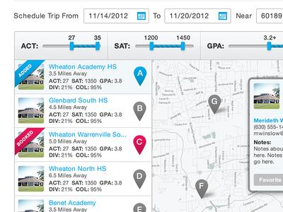 School Recruiter Planning App