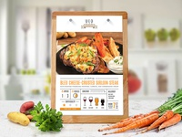 Meal Kit Recipe Card Concept