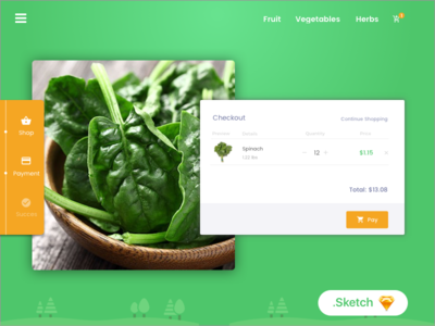 Fresh market app design