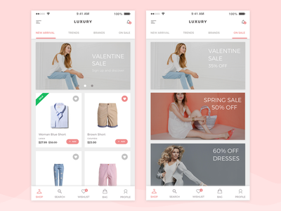 Luxury App android material design graphics card icons web website shop product ios iphone application  clean welcome screen fashion interaction invitation icon ecommerce experience ux ui