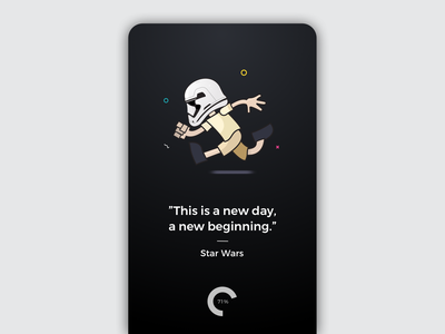 Cute Loading Illustration free sketch android material design invitation card icons illustration app starwars darkside ios iphone welcome screen icon interaction space stormtrooper onboarding prototype ux ui