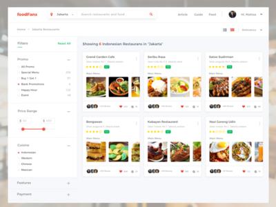 Foodfans Web App