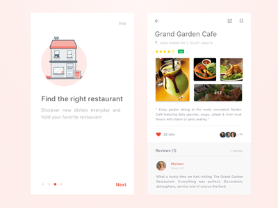 Simple Foodfans Mobile Concept navigation menu android page recipe restaurant ios iphone chef cooking invite order web design store ecommerce food card dashboard interaction mobile animation ux ui invitation