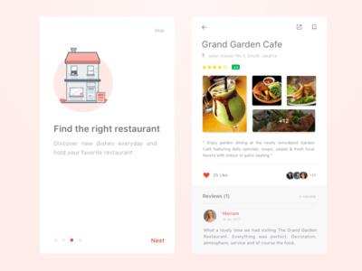 Simple Foodfans Mobile Concept