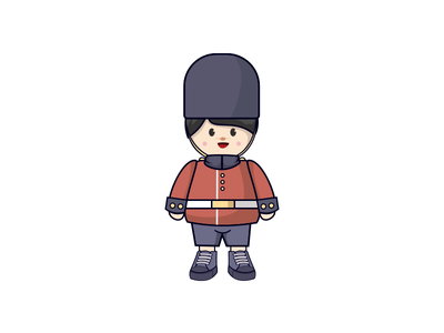 Cute Soldiers invitation character illustration sticker mule english sticker british cute uk soldiers guard london