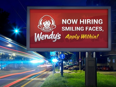 Wendy's Hiring Now Banner