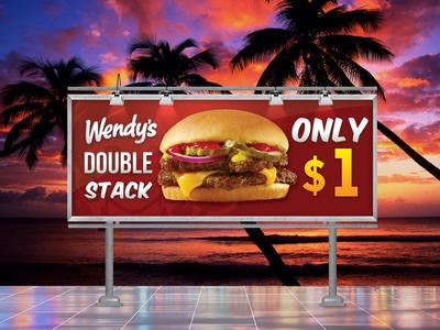 Wendy's Double Stack Billboard Design