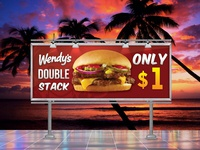 Wendy's Double Stack Billboard Design