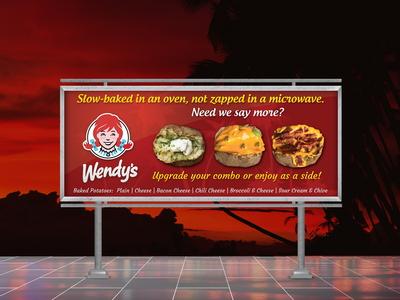 Wendy's Baked Potatoes Billboard