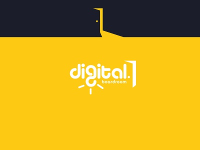 Digital Boardroom - Logo Design creative innovative youthful elegant modern inspiration light light bulb brand design logo smart clever door yellow boardrooom digital