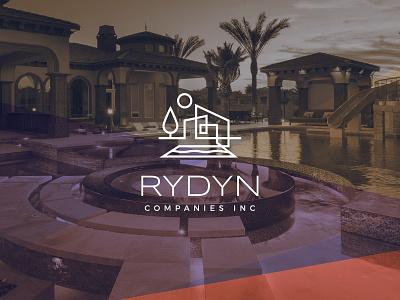 RYDYN - Line Art Logo isometric smart innovative design simple landscape elegant minimal luxurious architecture inspirational modern clever logo line line art