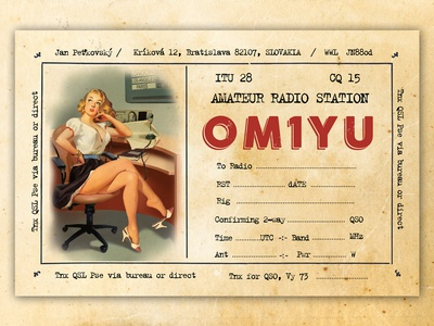 Postcard / QSL Card Design