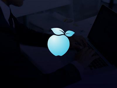 Apple Logo design blue design brand internet web technology informatics tech elegant new apple logo icon phone mobile apple