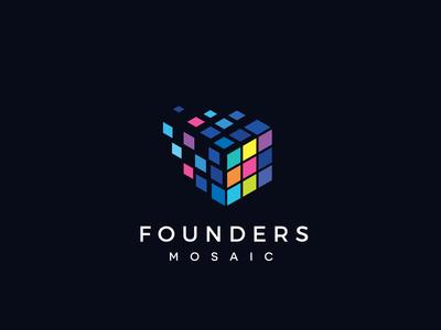 Founders Mosaic Logo Design