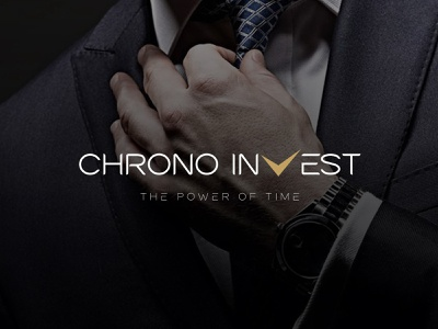 Chrono Invest performance tradition manufacturer logotype logo design elegant modern fashion time luxury watch chrono wordmark logo