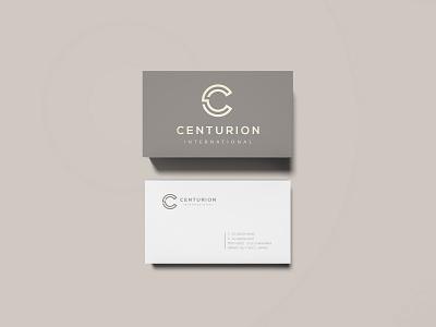 Centurion International - Logo & Business Card Design branding fashion italy japan logo brand luxury monogram minimalistic modern gray pantone business card elegant rome centurion