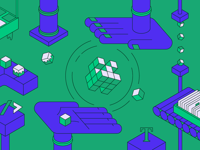Blogposts' Headers illustration system design uxpin ux ui