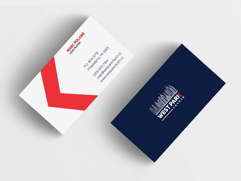 West Park Church Business Cards By Vincent Abanyie Dribbble Dribbble