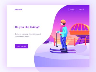 skiing web design