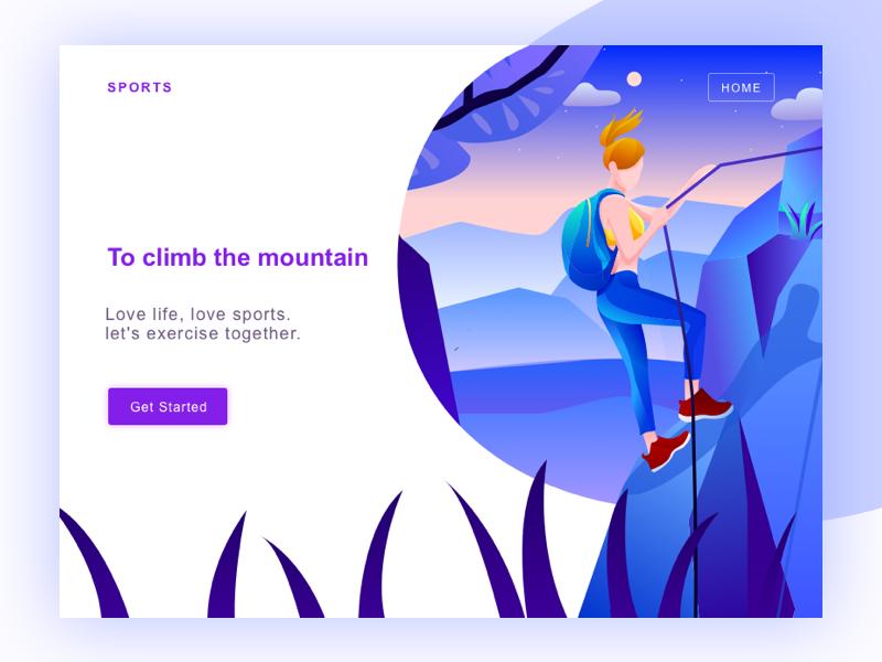 sports web climbing illustration graphic web ui skiing