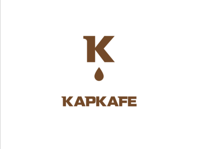 """Drop Cafe"" Logo coffee cafe branding cafe logo letter k coffee logo cafe coffee drop"