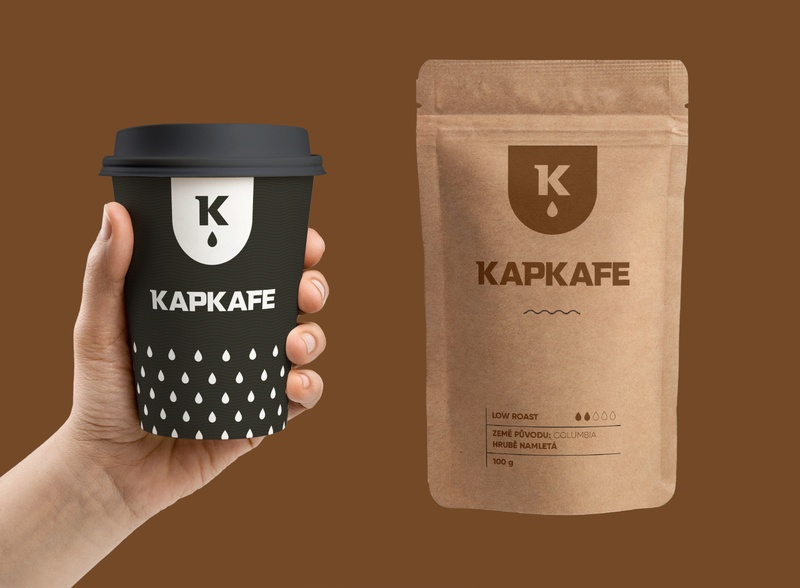 Drop Cafe - part of branding. coffee branding coffee pouch bag coffeeshop coffee cup coffee