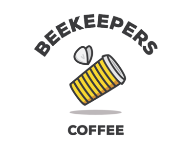 Beekeper's Coffee design graphic design logo design branding branding and identity brand identity brand design logo designs logos coffee shop coffee cup coffee café honey logo design branding brand logo beekeper bees bee