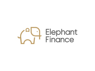 Elephant Finance logodesign icon vector illustration logos design graphic design logo design logomark elephant logo