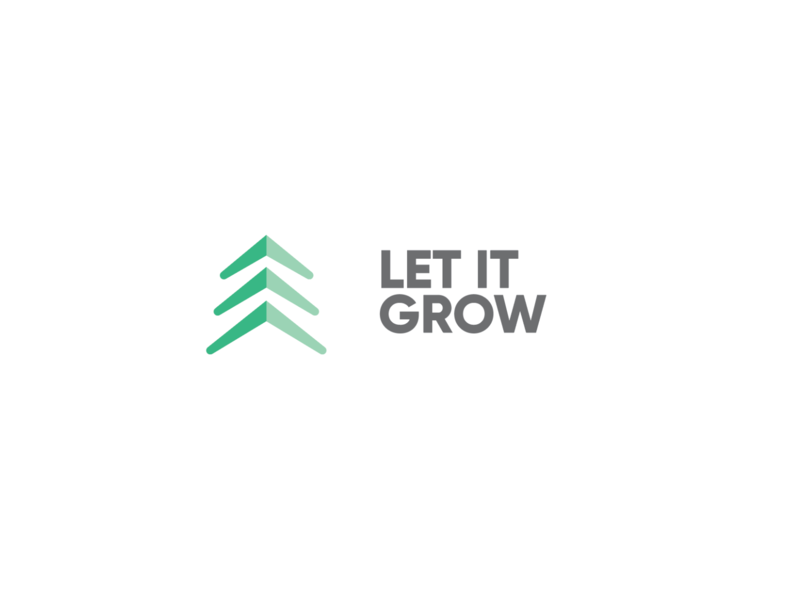 Let It Grow App trend environmental tree app icon app icon app design tree logo logomark logos logo design for fun design graphic design trendy logo save earth growing tree app environment trees tree
