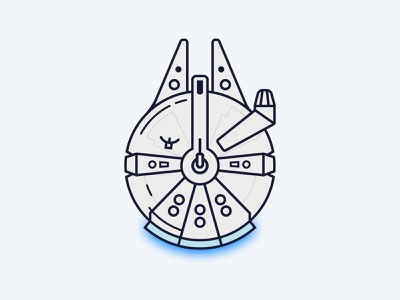 millenium falcon designs, themes, templates and downloadable graphic  elements on dribbble  dribbble